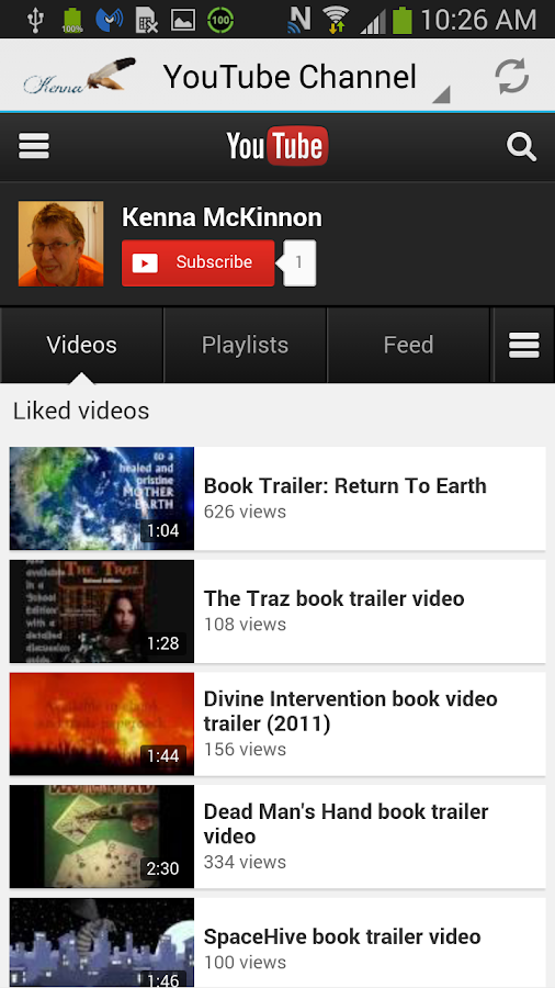 Author Kenna McKinnon- screenshot