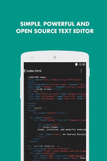 Turbo Editor PRO Text Editor