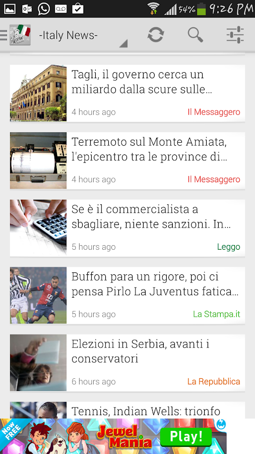 Italy News - screenshot