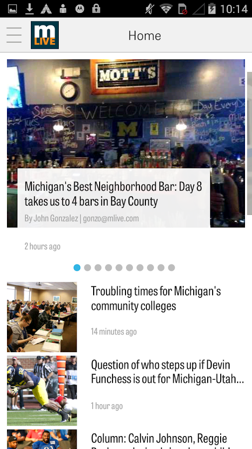 MLive.com- screenshot