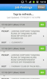 ComfortDelGro Driver Job Bid - screenshot thumbnail