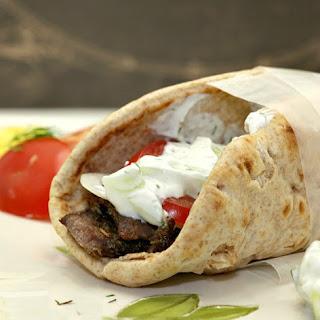 Leg of Lamb Gyro with Tzatziki Sauce Recipe