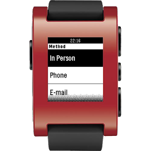 Contrack for Pebble- screenshot thumbnail