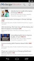 Screenshot of Medscape