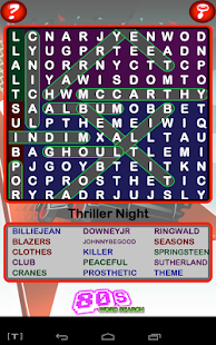 Epic 80s Word Search- screenshot thumbnail