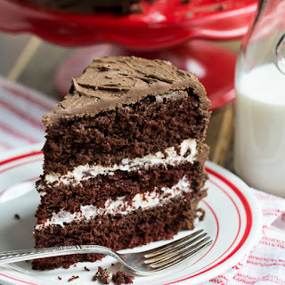 Chocolate Cake with Cream Filling.