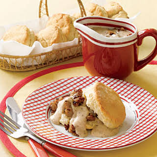 Biscuits with Sausage Gravy.