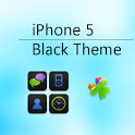 iPhone 5 Black Go Launcher EX icon