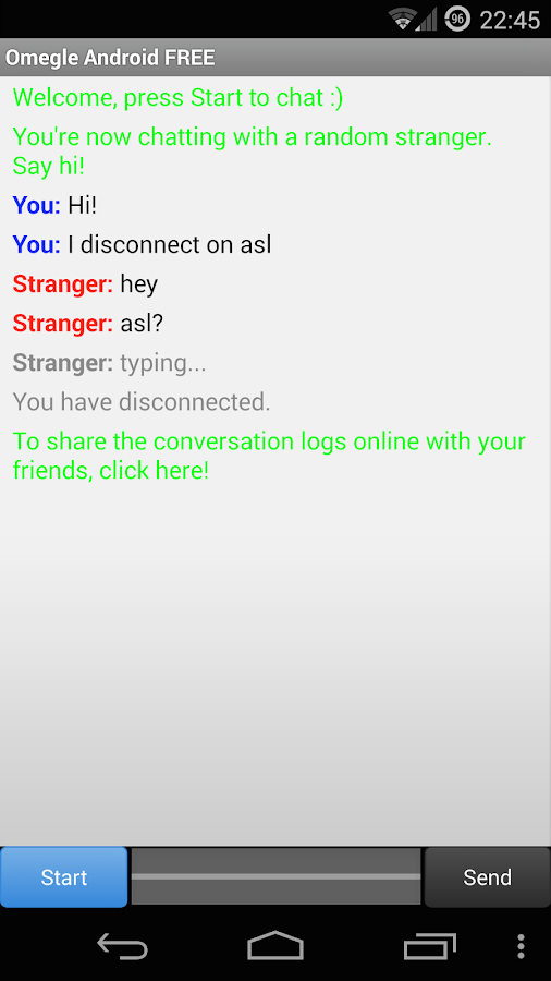 Omegle Android FREE - screenshot