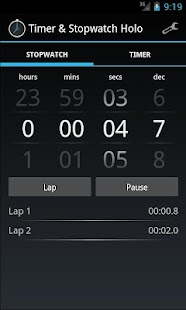 Timer & Stopwatch Holo - screenshot thumbnail