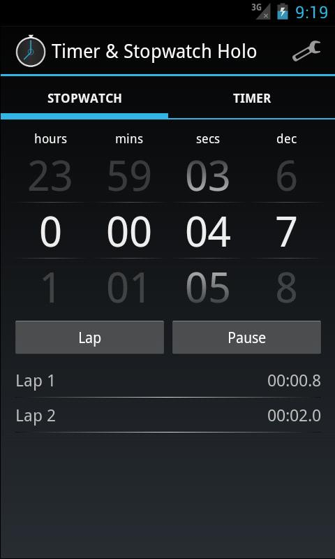 Timer & Stopwatch Holo- screenshot