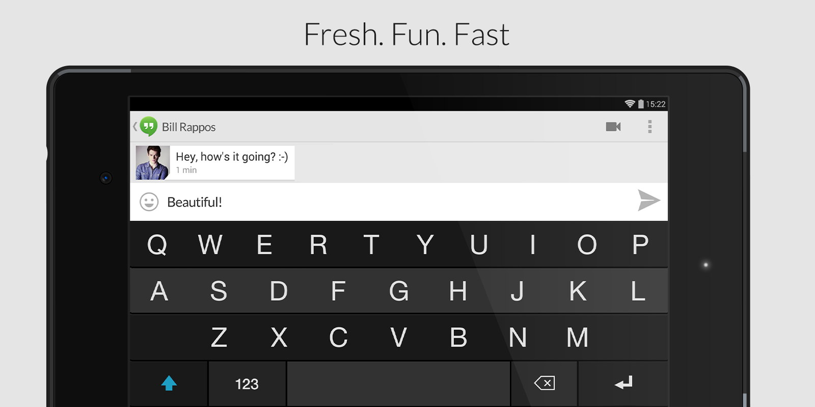 Fleksy Keyboard - Happy Typing - screenshot