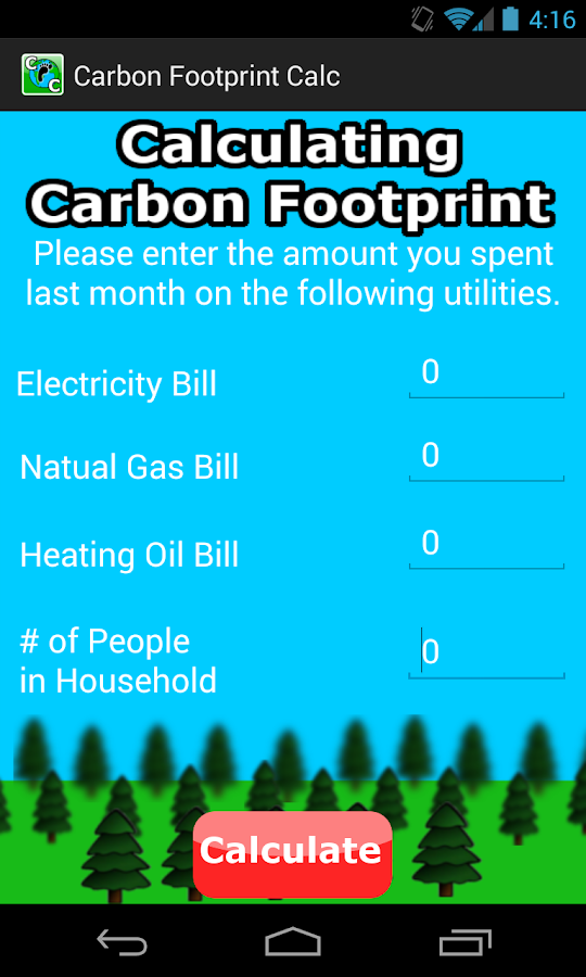 Carbon Footprint Calculator: captura de pantalla
