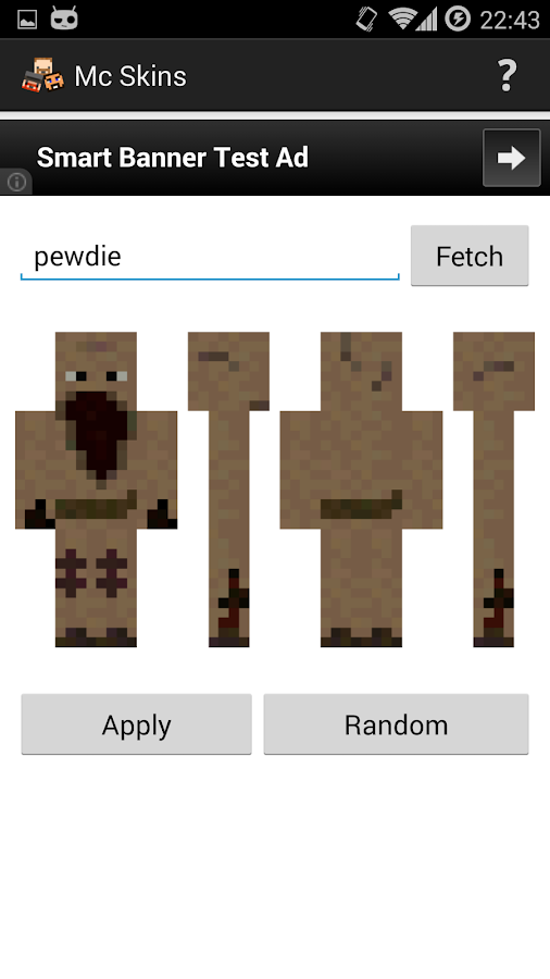 Skins for Minecraft Pocket Ed- screenshot