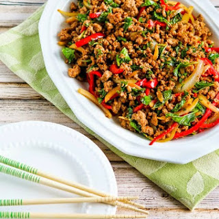 Thai-Inspired Ground Turkey Stir-Fry with Basil and Peppers (Low-Carb, Gluten-Free).