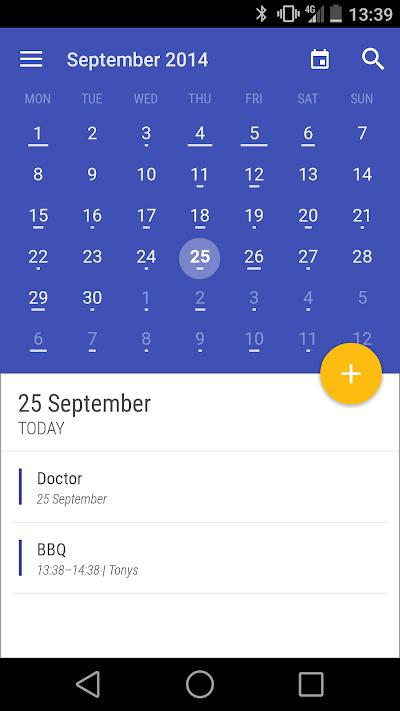 Today Calendar Pro 2.3 APK