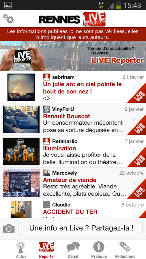 Rennes Live - screenshot