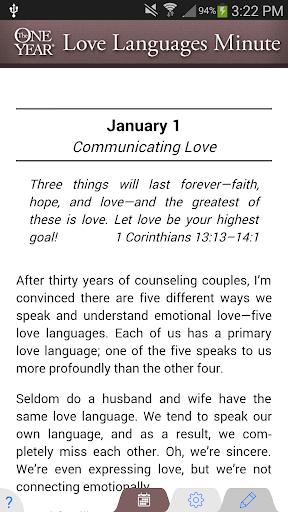 One Year® Love Language Devo