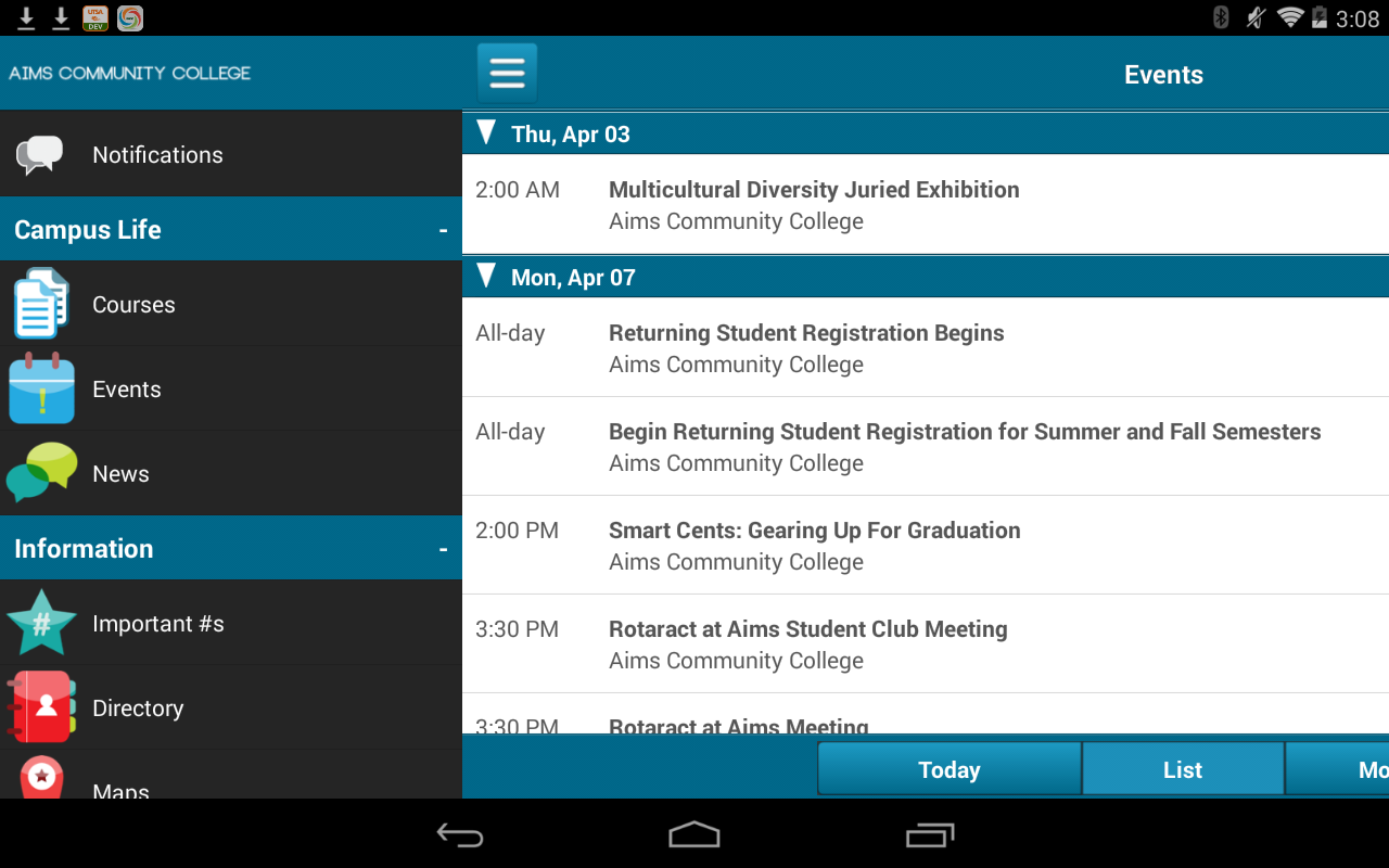 Aims Community College - screenshot
