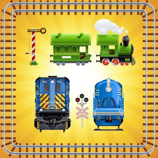 玩具火車  幼兒拼圖 ! 教育 App LOGO-硬是要APP
