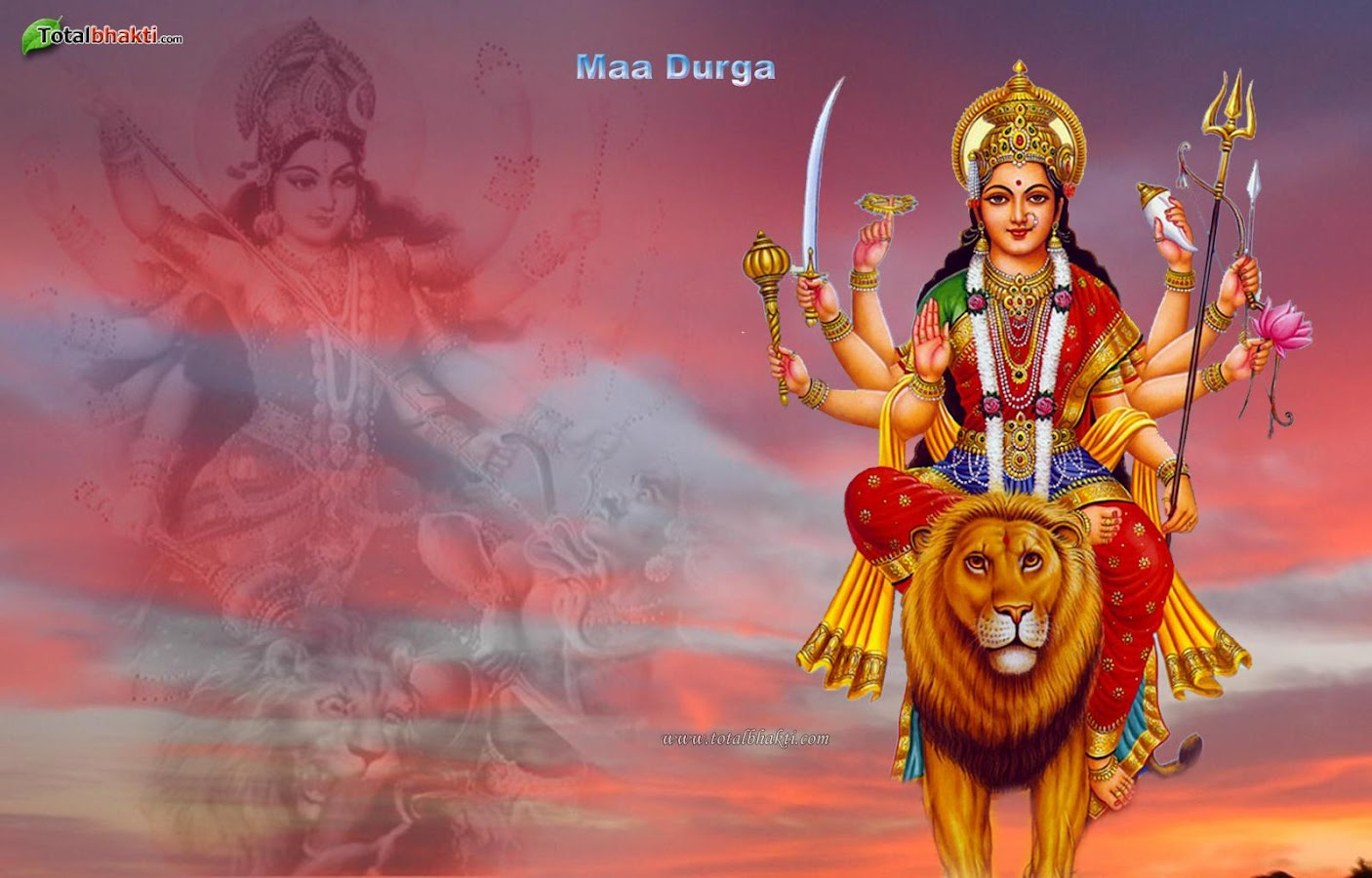 Wallpaper download mata rani - Durga Sherawali Wallpaper Screenshot