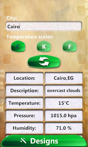 阿拉伯語 時鍾天氣預報微件