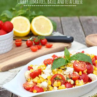 Sauteed Corn with Tomatoes, Feta and Basil