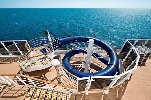 Children and teens can zip down MSC Splendida's exhilarating Toboga Slide, over and over.