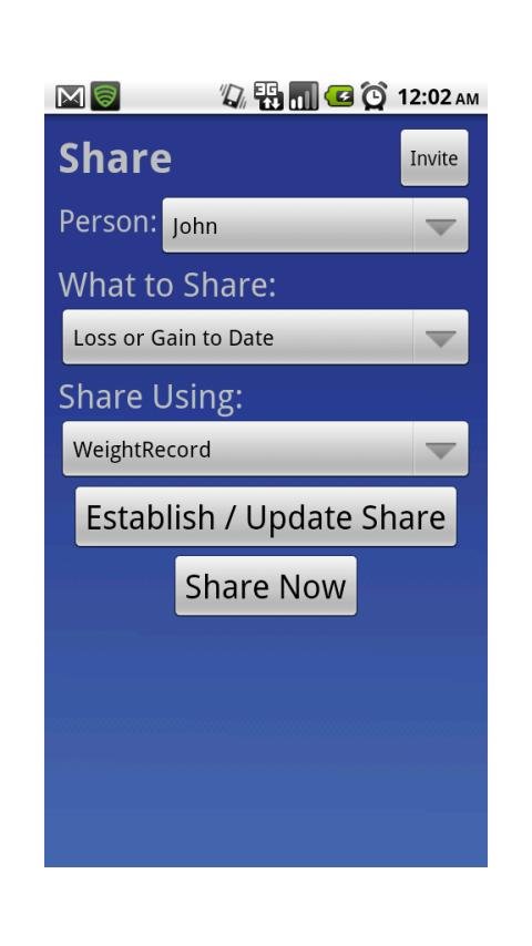 WeightRecord- screenshot