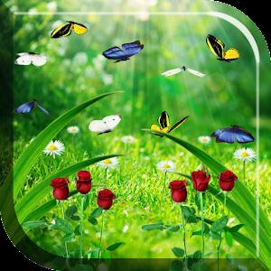 Летний сад Живые Обои