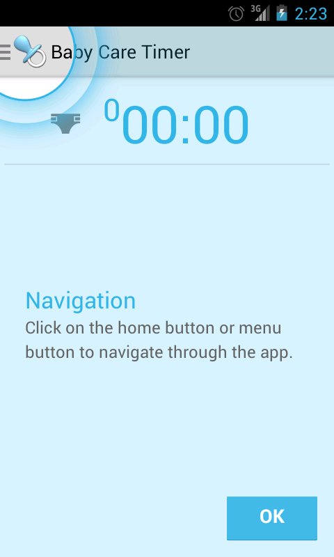 Baby Care Timer Lite - screenshot