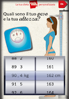 Screenshot of La tua dieta personalizzata