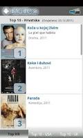Screenshot of Kino program - Hrvatska