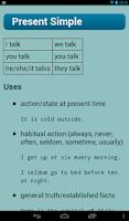 Screenshot of English Verbs