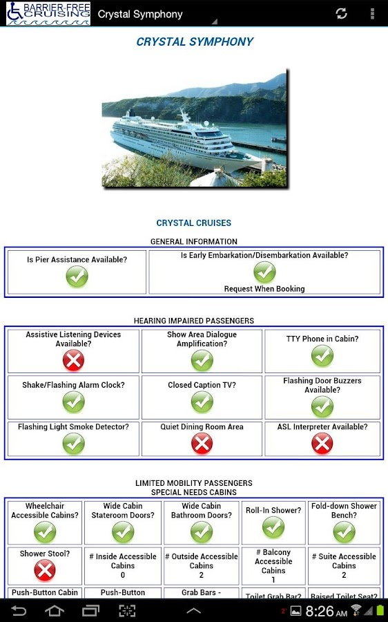 Barrier-Free Crystal Cruises- screenshot