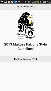 Maltose Falcons Style Guide
