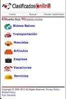 Screenshot of ClasificadosOnline