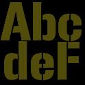 Stencils for FlipFont® free icon