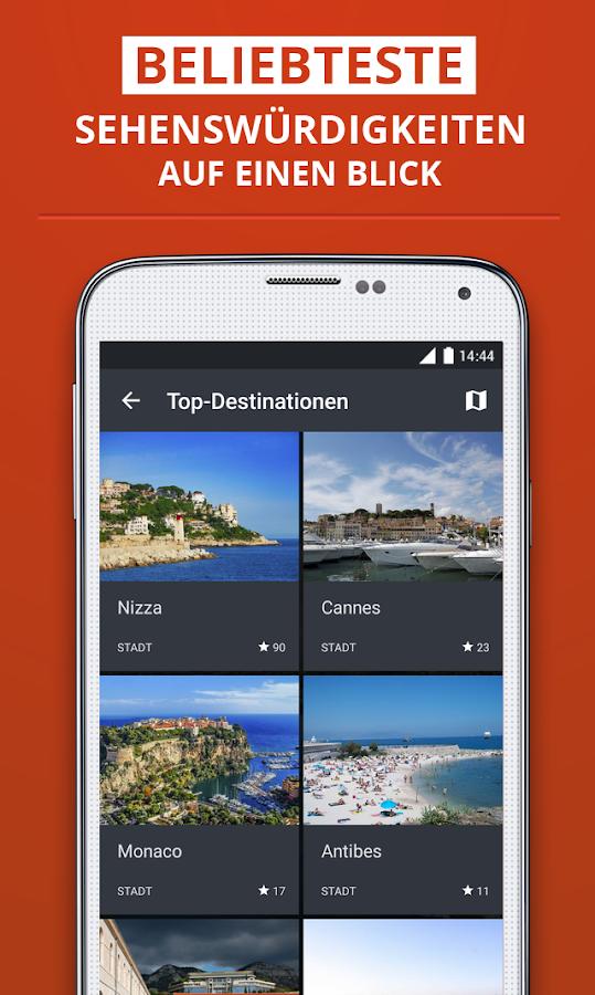 c te d 39 azur reisef hrer android apps on google play. Black Bedroom Furniture Sets. Home Design Ideas