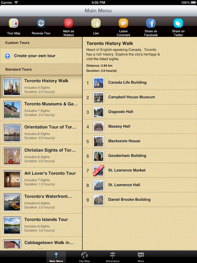 Toronto Map and Walks - screenshot