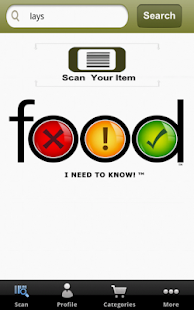 Healthy Food, Allergens, GMO- screenshot thumbnail