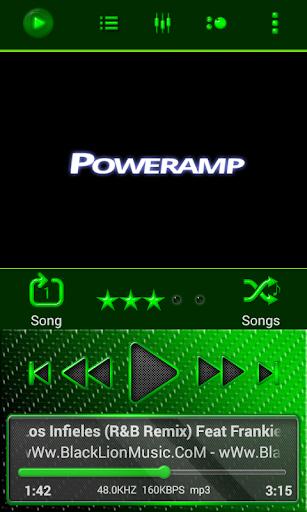 Poweramp Skin Green Neon