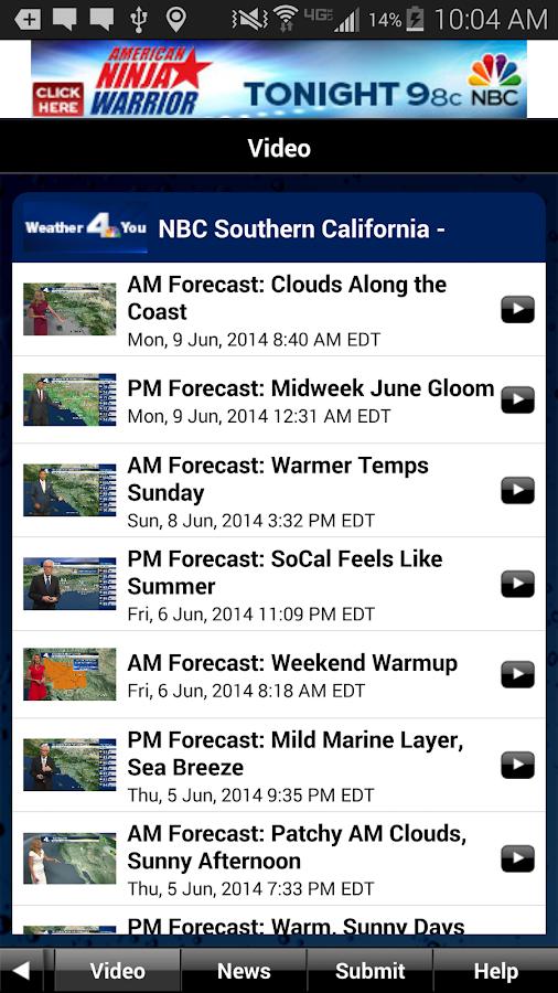 NBC LA Weather - screenshot