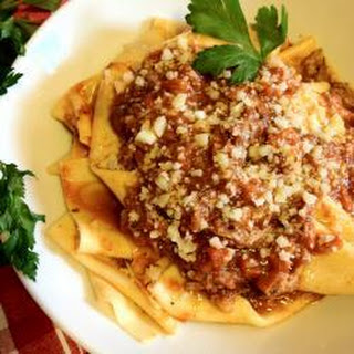 Gerardo's pappardelle with Tuscan wild boar ragù