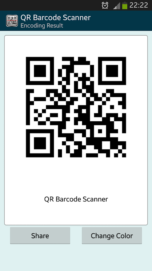 how to get qr code for android app