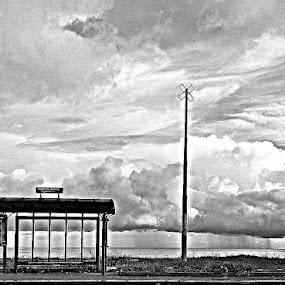 by Alessandro Bagnasco - Landscapes Sunsets & Sunrises ( sea, black and white, b&w, landscape )