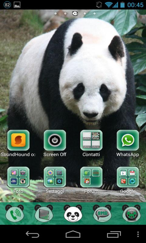 Panda Theme GO Launcher EX - screenshot