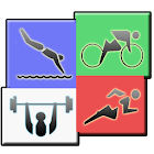 Megathlon : triathlon training icon