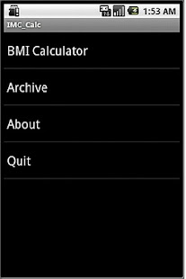 BMI Calc- screenshot thumbnail