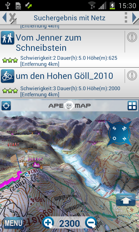 Outdoor and Hiking Navigation- screenshot